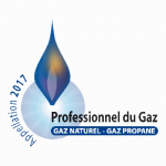 Nous disposons de la certification Professionnel du Gaz, appellation 2017